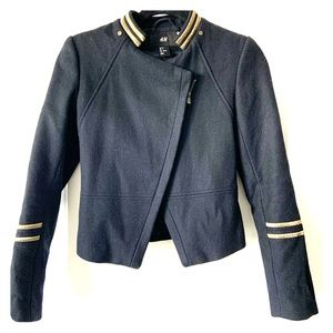 H&M Military style cropped jacket